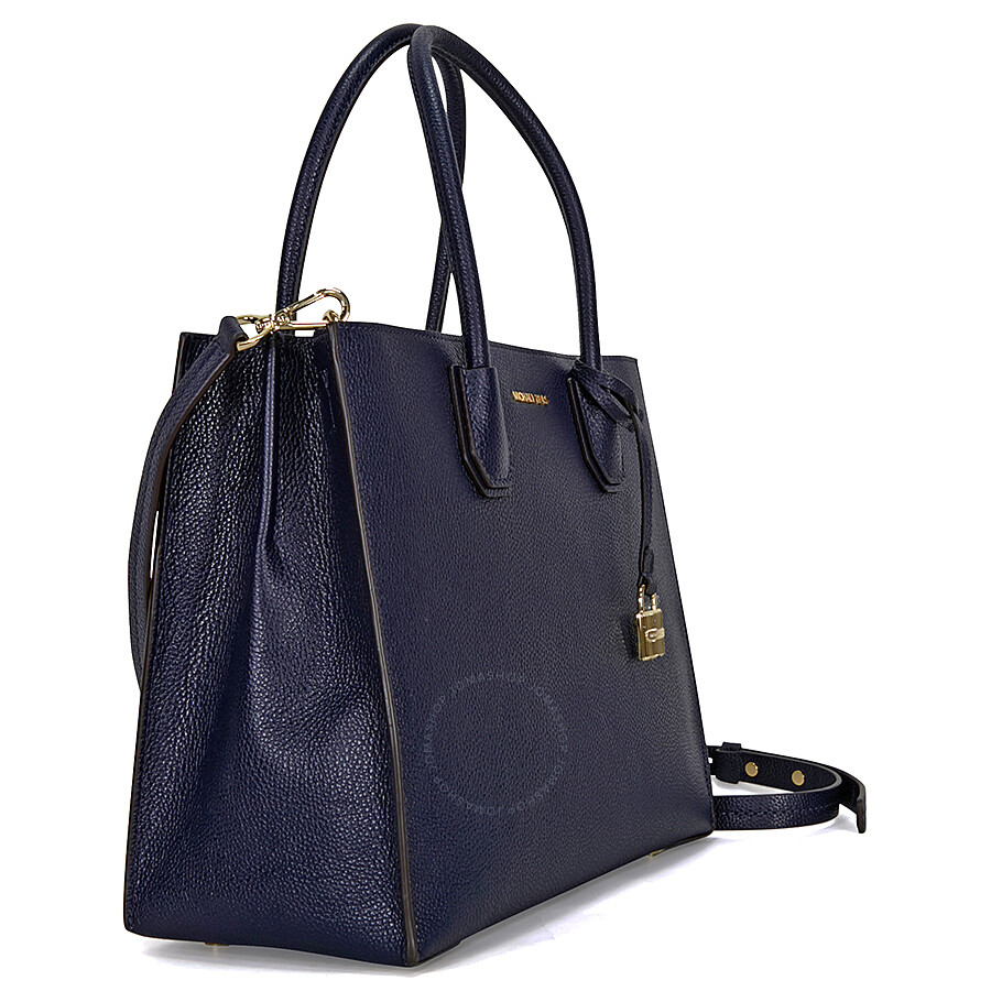 81a3a42d54a9fb Michael Kors Mercer Large Bonded Leather Tote- Admiral Item No.  30F6GM9T3L-414
