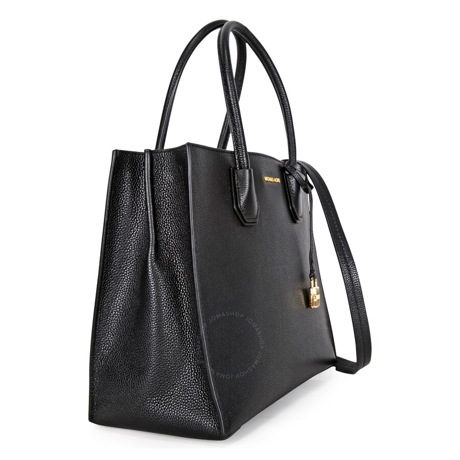 8dbf14a002794 Michael Kors Mercer Large Bonded Leather Tote - Black - Michael Kors ...