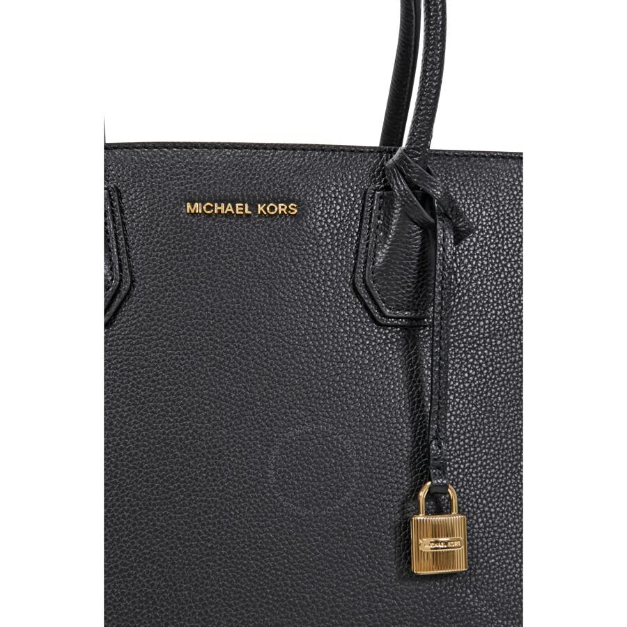bed9bc710794 Michael Kors Mercer Large Bonded Leather Tote - Black - Michael Kors ...