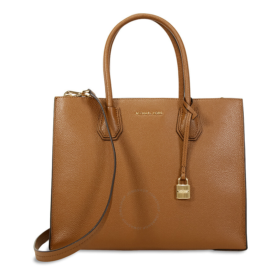40d0f92a43aa65 Michael Kors Mercer Large Bonded Leather Tote - Luggage Item No.  30F6GM9T3L-230