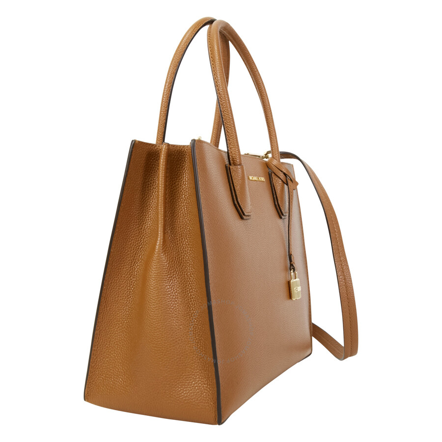 0026a248ab34 Michael Kors Mercer Large Bonded Leather Tote - Luggage - Michael ...