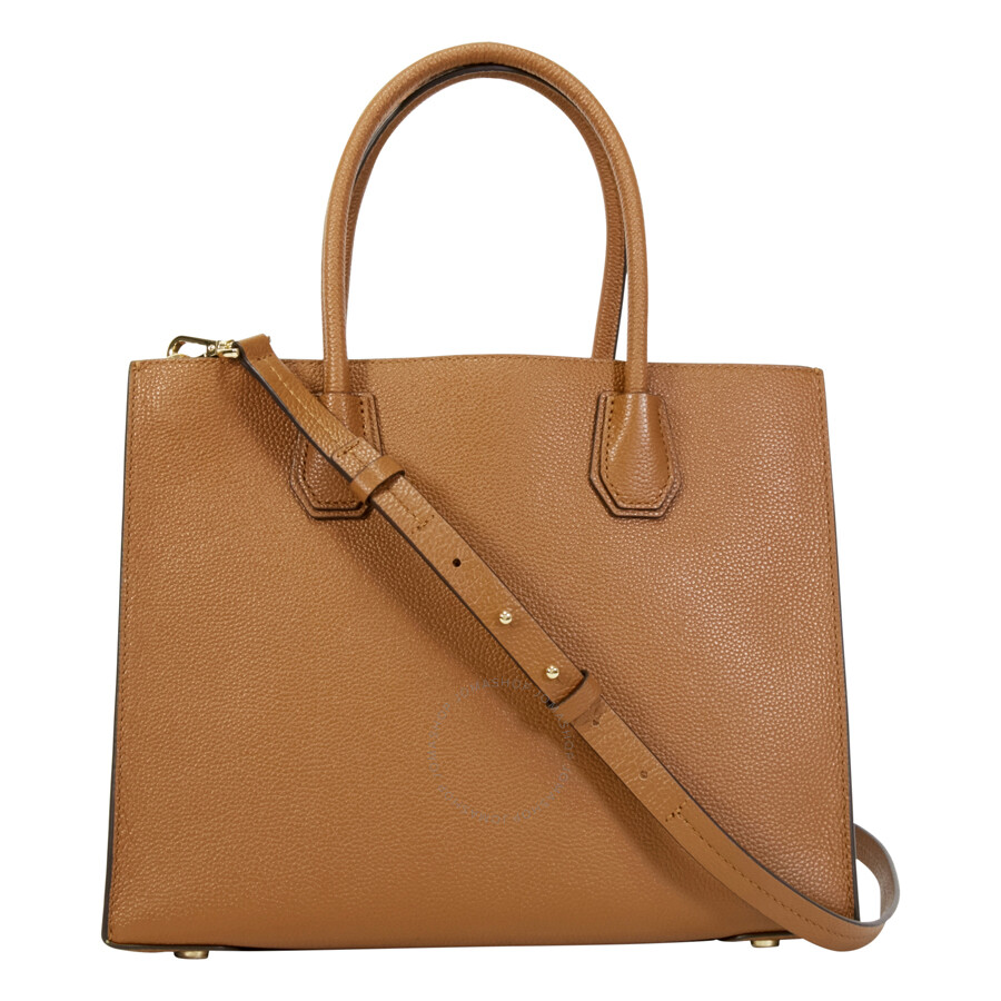 89a33f1019 Michael Kors Mercer Large Bonded Leather Tote - Luggage - Michael ...