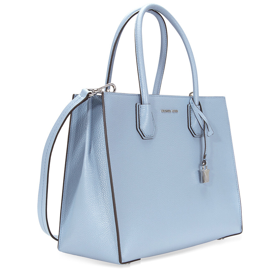 fc1f35db874c ... Michael Kors Mercer Large Convertible Leather Tote - Pale Bluje ...