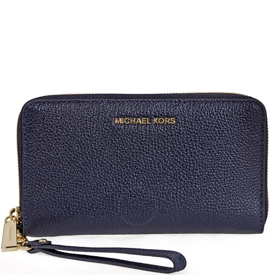 265284c967a2d Michael Kors Mercer Large Leather Smartphone Wristlet- Admiral Item No.  32F6GM9E3L-414