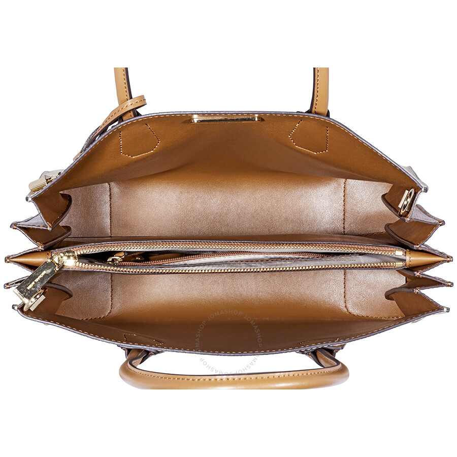 d668426e7a18f7 Michael Kors Mercer Large Pebbled Leather Accordion Tote- Oat ...