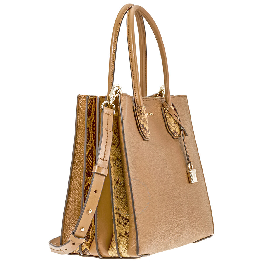 533bd3217ad094 Michael Kors Mercer Large Pebbled Leather Accordion Tote-Acorn ...