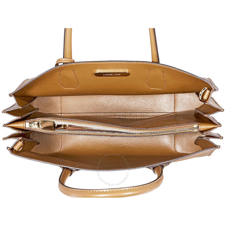 fb4292179cb7 Michael Kors Mercer Large Pebbled Leather Accordion Tote-Acorn ...