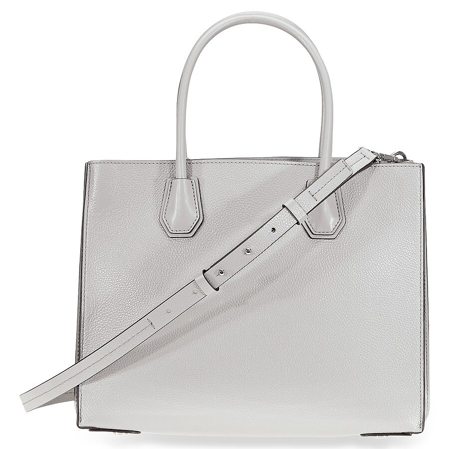 99888f850638 Michael Kors Mercer Large Pebbled Leather Tote - Pearl Grey - Mercer ...