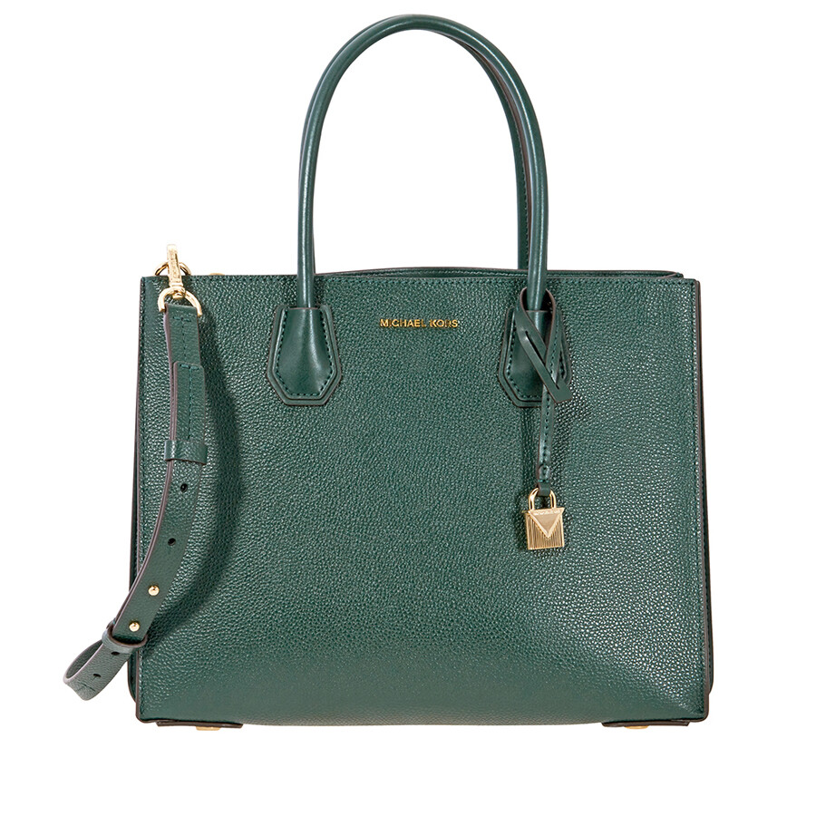 01d5b3ed6188a6 Michael Kors Mercer Large Pebbled Leather Tote - Racing Green Item No.  30F8GM9T3T-305