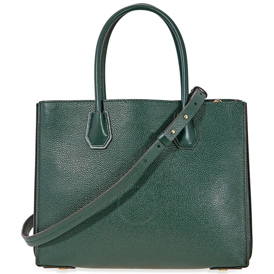e55d355f2789 Michael Kors Mercer Large Pebbled Leather Tote - Racing Green Item No.  30F8GM9T3T-305