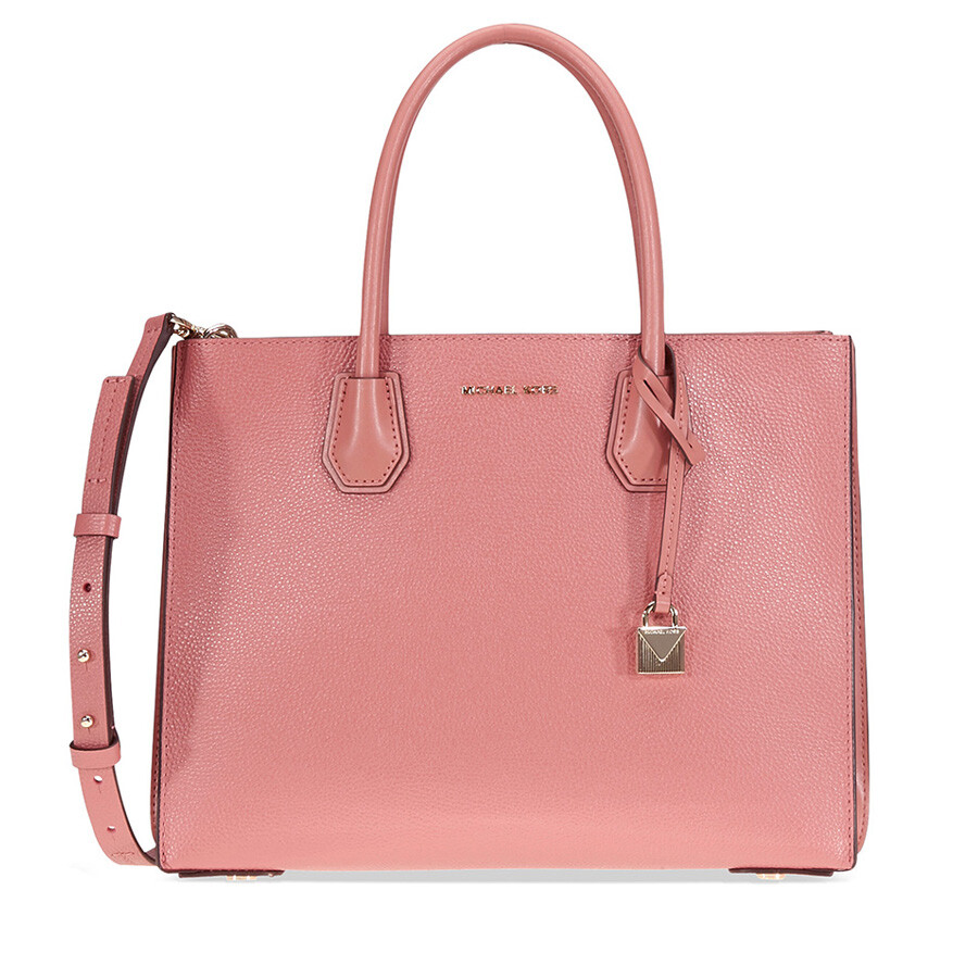36816b73d94a Michael Kors Mercer Large Pebbled Leather Tote - Rose - Mercer ...