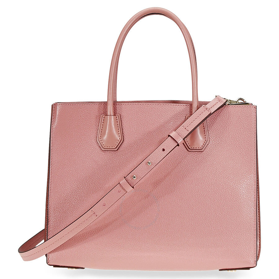 2e89a51ebfba Michael Kors Mercer Large Pebbled Leather Tote - Rose Item No.  30F8TM9T3T-622