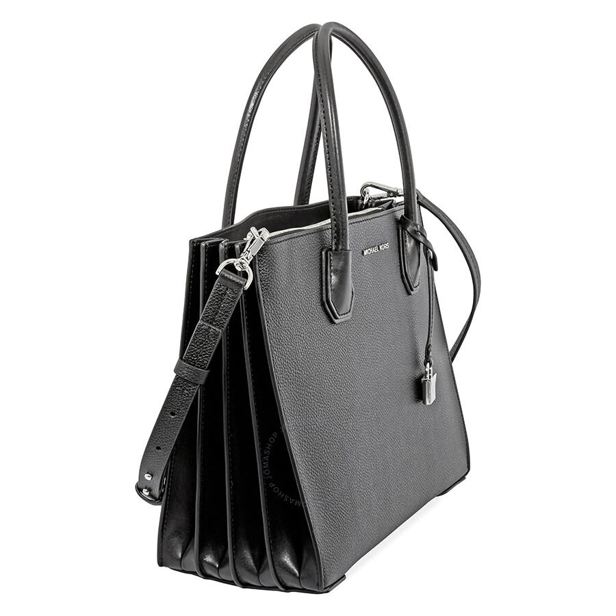 ff30eca992c48 Michael Kors Mercer Large Pebbled Leather Tote- Black - Mercer ...