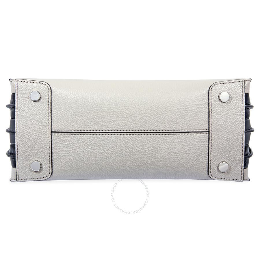 949520b4fadf Michael Kors Mercer Large Pebbled Leather Tote- Gray/Black - Mercer ...