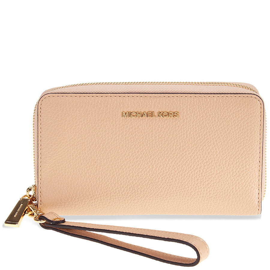 311fa98f25b02d Michael Kors Mercer Large Phone Wristlet - Oyster Item No. 32F6GM9E3L-134
