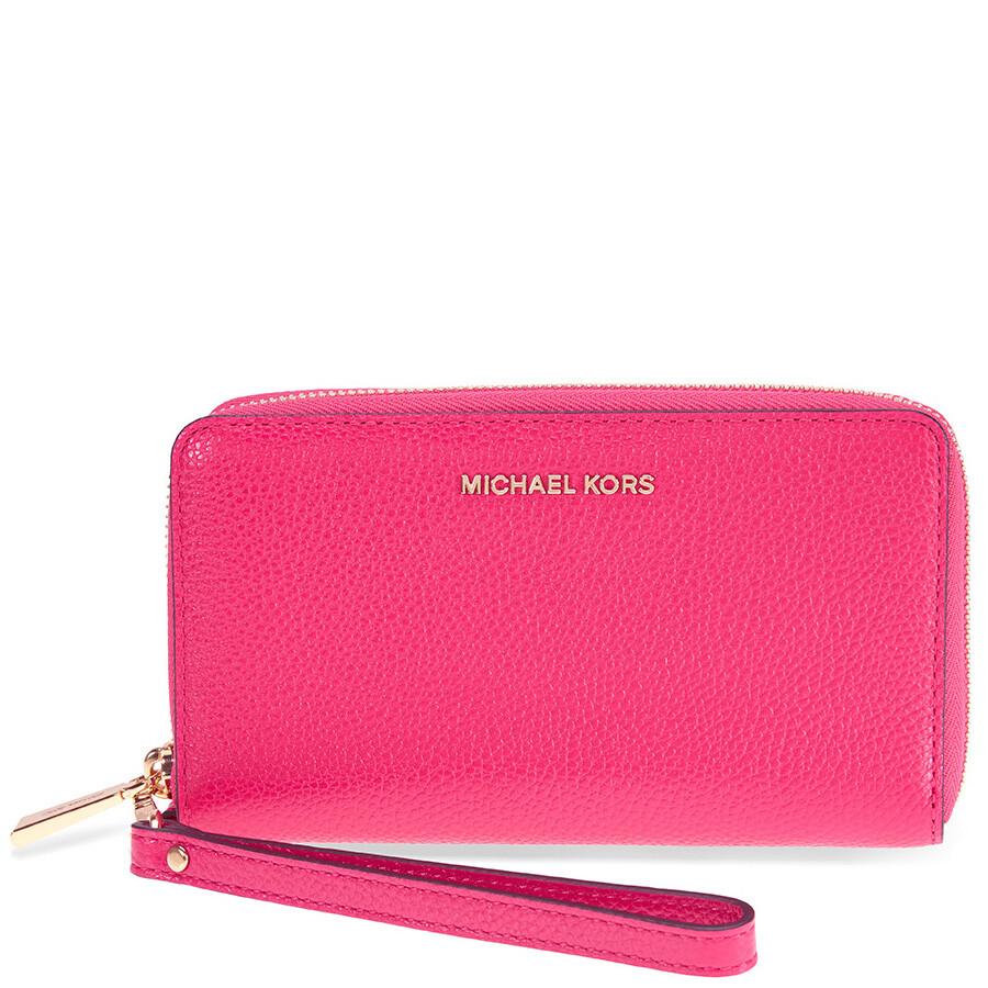 41ee45b88cc8f5 Michael Kors Mercer Large Phone Wristlet - Ultra Pink Item No.  32F6GM9E3L-564