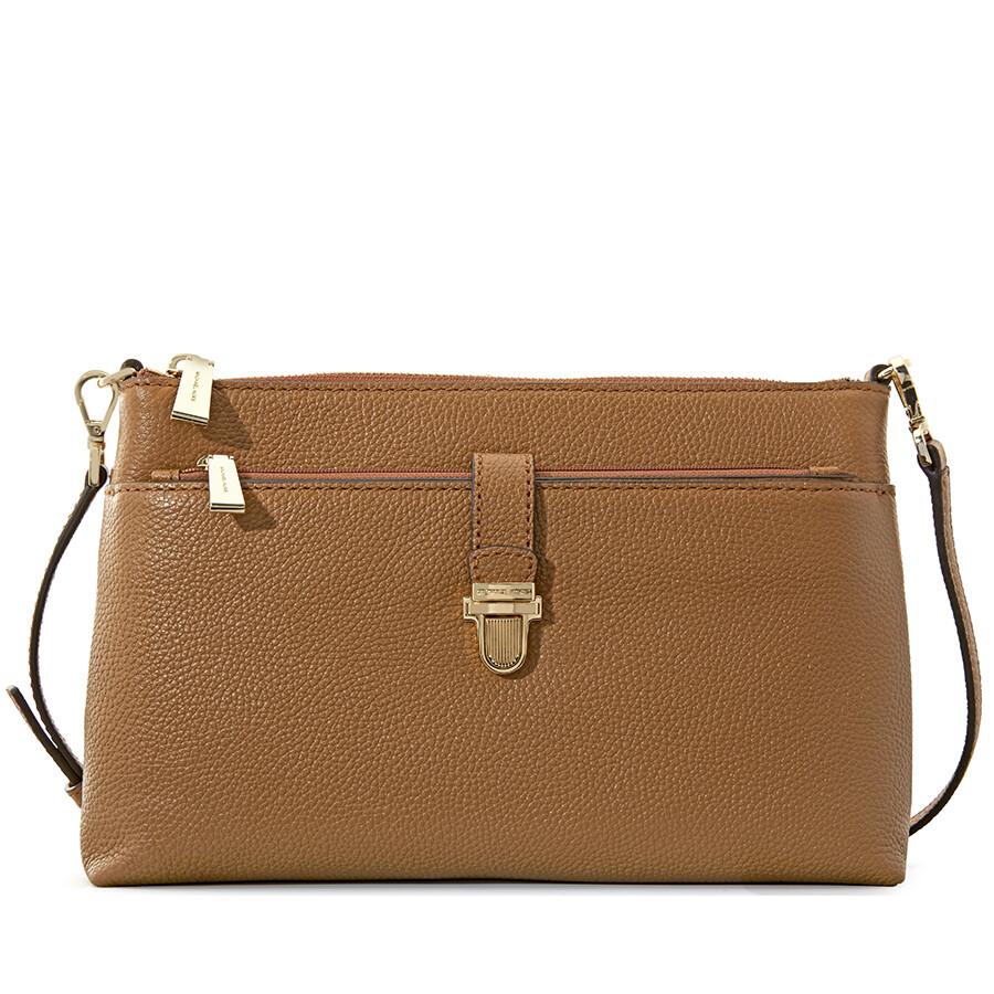 Michael Kors Mercer Large Snap Pocket Crossbody Bag Acorn