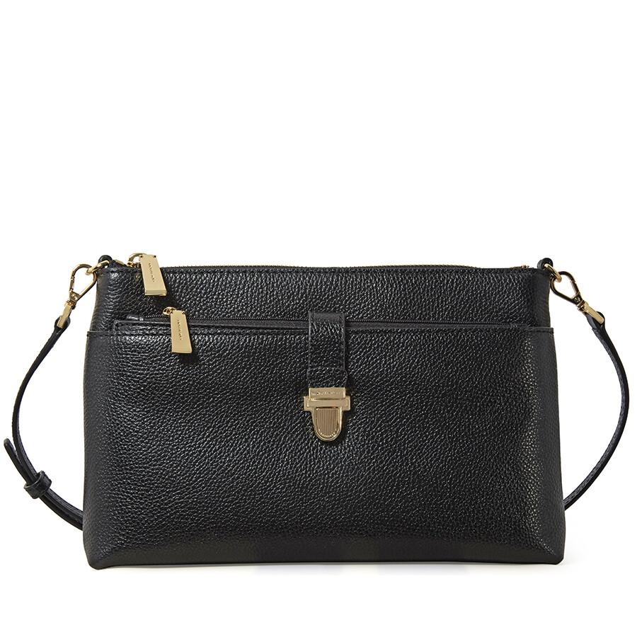 9cc2cbaa04d038 Michael Kors Mercer Large Snap Pocket Crossbody Bag - Black - Mercer ...