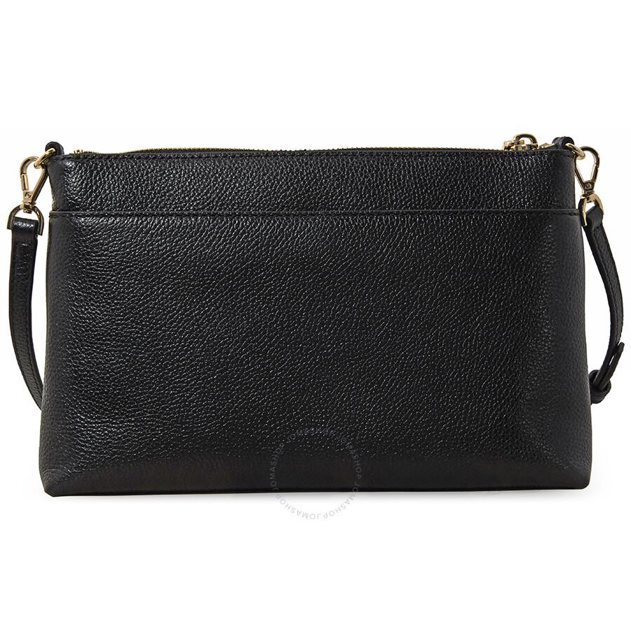 ed1df39052f555 Michael Kors Mercer Large Snap Pocket Crossbody Bag - Black - Mercer ...