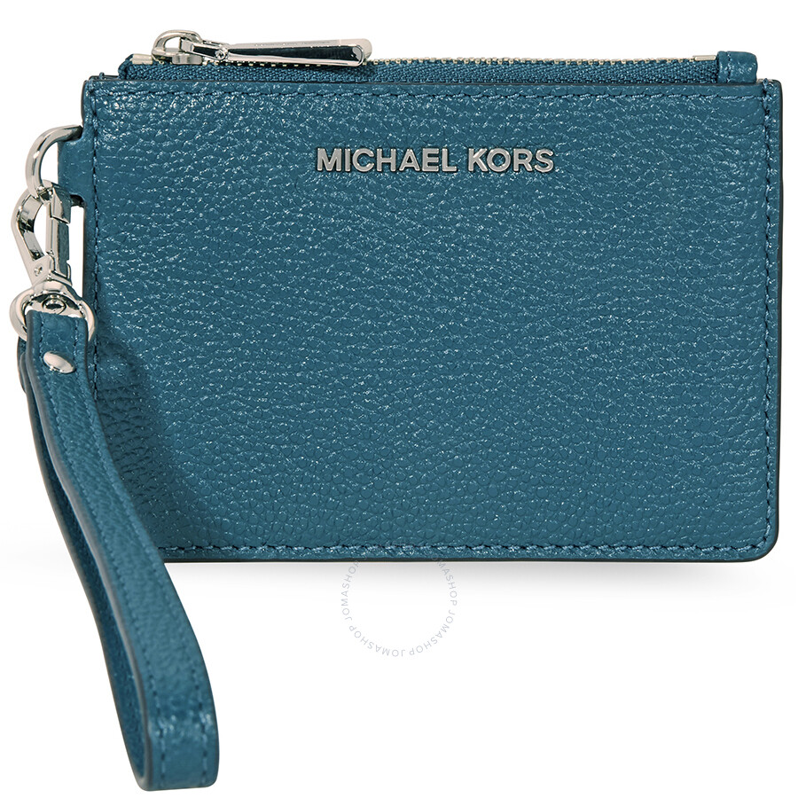 70cc6dba2a85 Michael Kors Mercer Leather Coin Purse - Teal Item No. 32T7SM9P0L-402