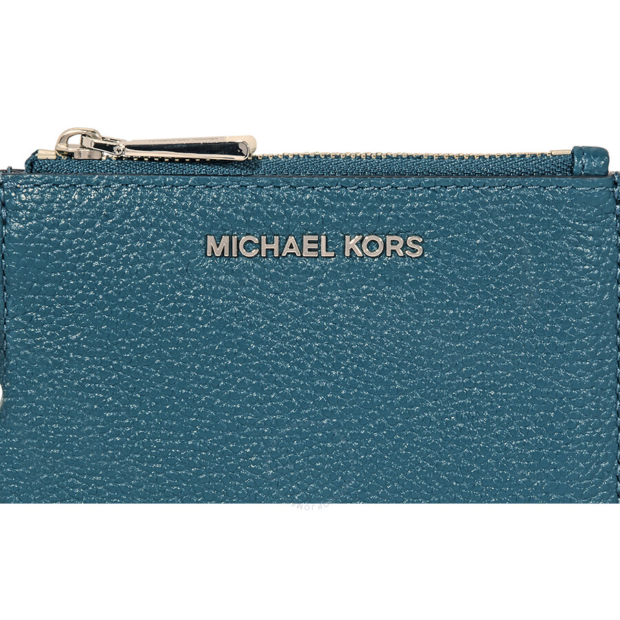 c3b92d3e7cfc Michael Kors Mercer Leather Coin Purse - Teal - Michael Kors ...