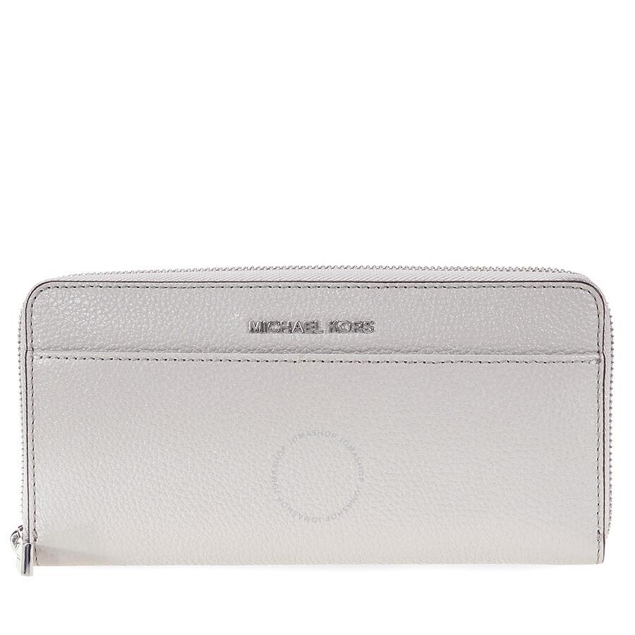 c2c5d36ca60c Michael Kors Mercer Leather Wallet - Pearl Grey Item No. MK32S7SM9E9L-081
