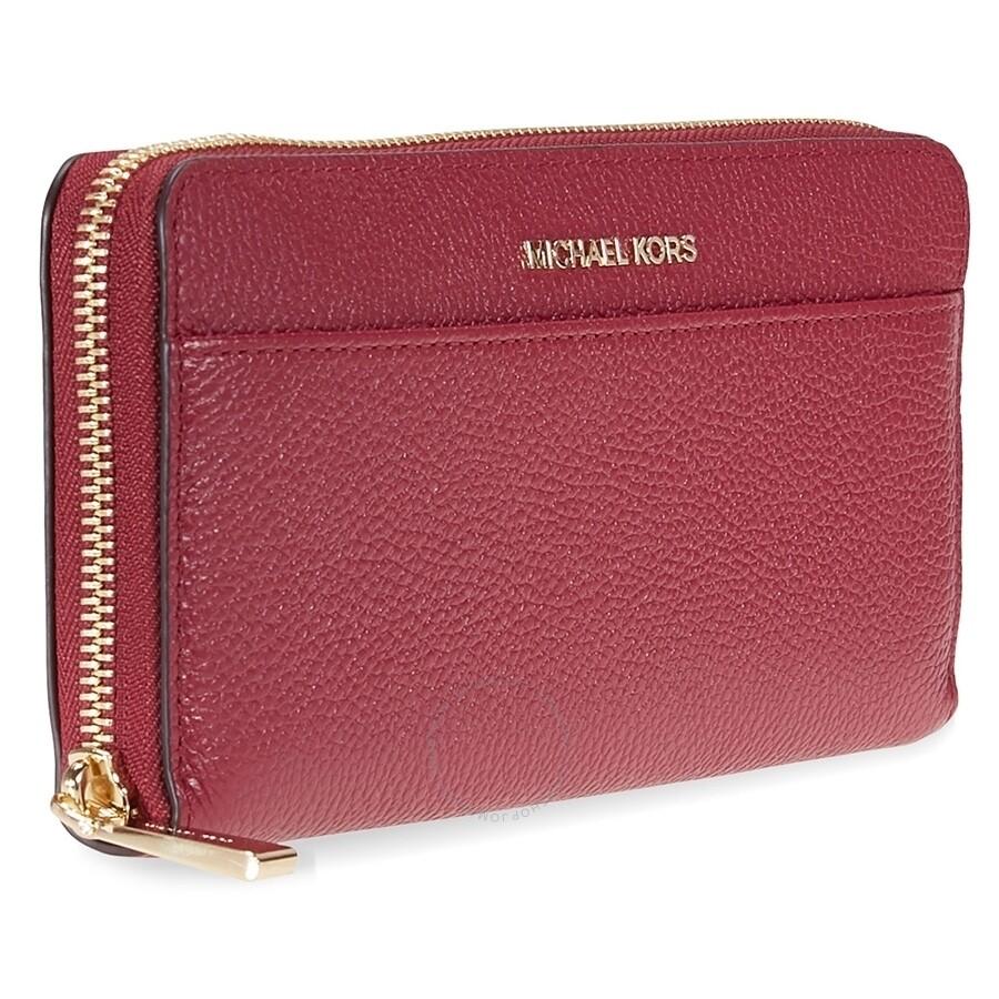 6923c85a5b37 Michael Kors Mercer Leather Wallet - Mulberry - Mercer - Michael ...