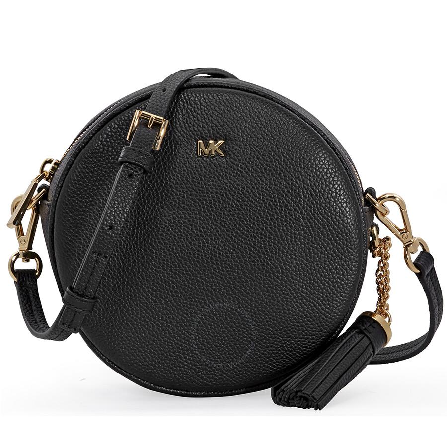 ccd43b587d1b Michael Kors Mercer Medium Canteen Crossbody Bag- Black Item No.  32T8GF5N3L-001