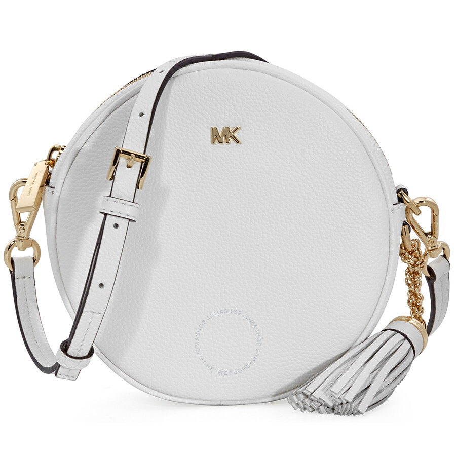 e328fd5ac929 Michael Kors Mercer Medium Canteen Crossbody Bag- Optic White Item No.  32T8GF5N3L-085