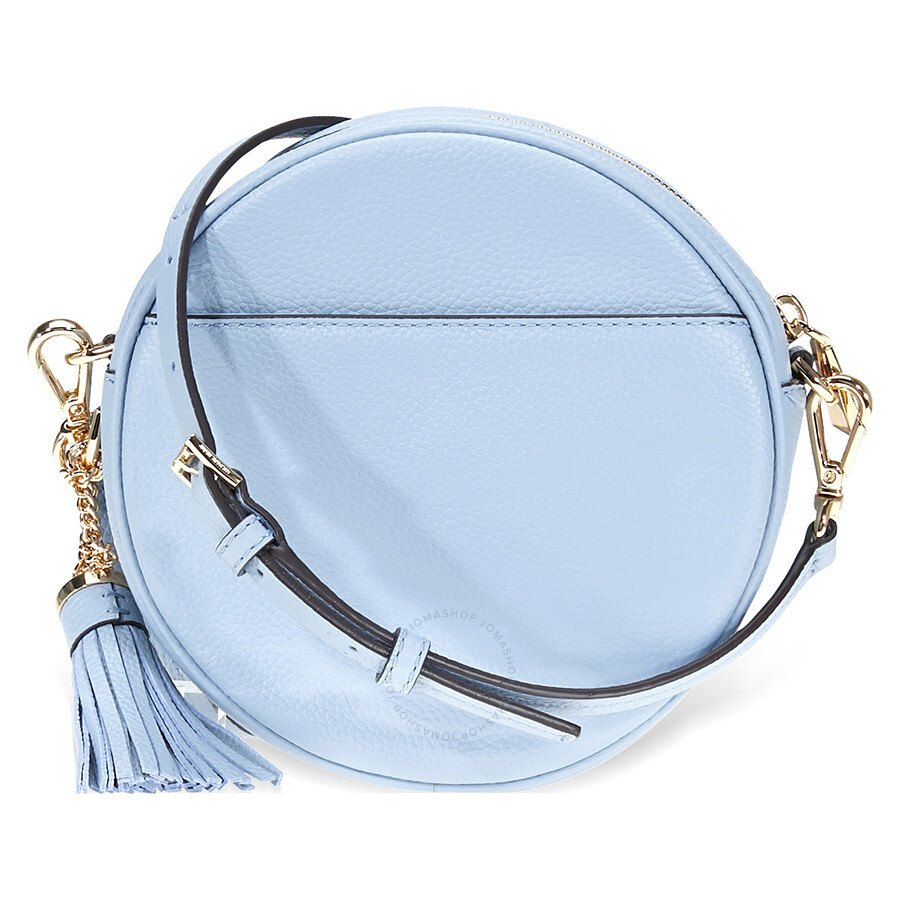 e823aed8fcdf3f Michael Kors Mercer Medium Canteen Crossbody Bag- Pale Blue - Mercer ...