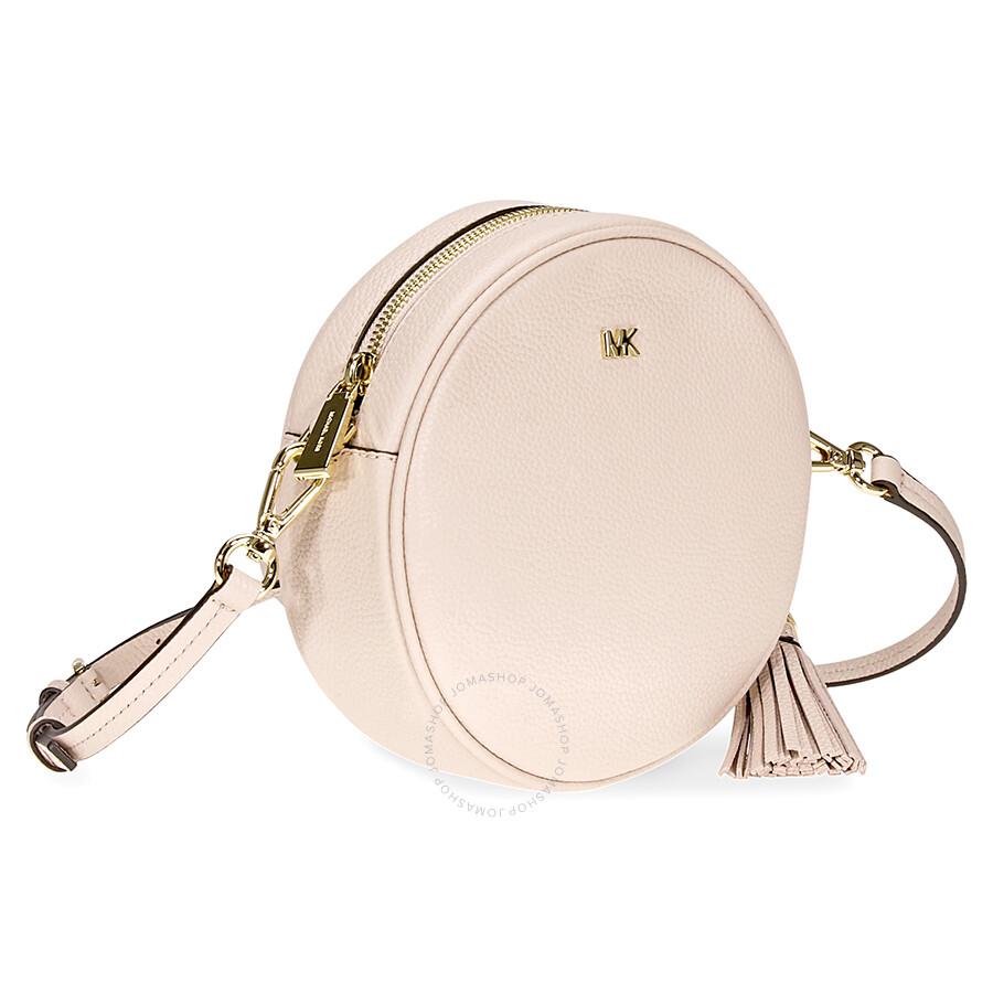 9a71cee959a0af Michael Kors Mercer Medium Canteen Crossbody Bag- Soft Pink - Mercer ...