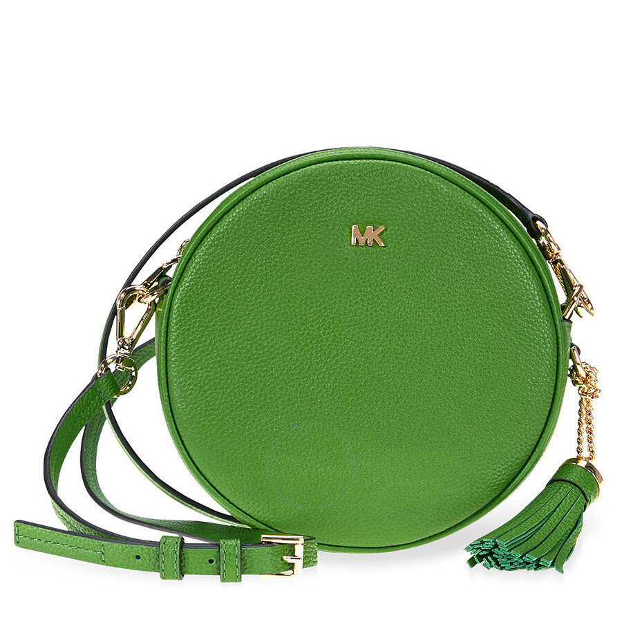 fe8cb1eec3cd Michael Kors Mercer Medium Canteen Crossbody Bag- True Green Item No.  32T8GF5N3L-304
