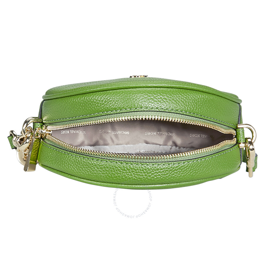 f1a297a9ed72 Michael Kors Mercer Medium Canteen Crossbody Bag- True Green ...