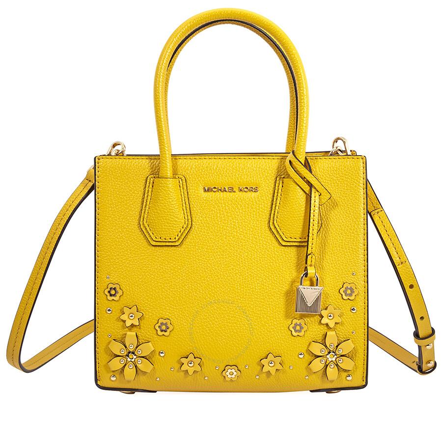 2618a48204b3 Michael Kors Mercer Medium Crossbody Bag- Sunflower Item No. 30T8GM9M2Y-719