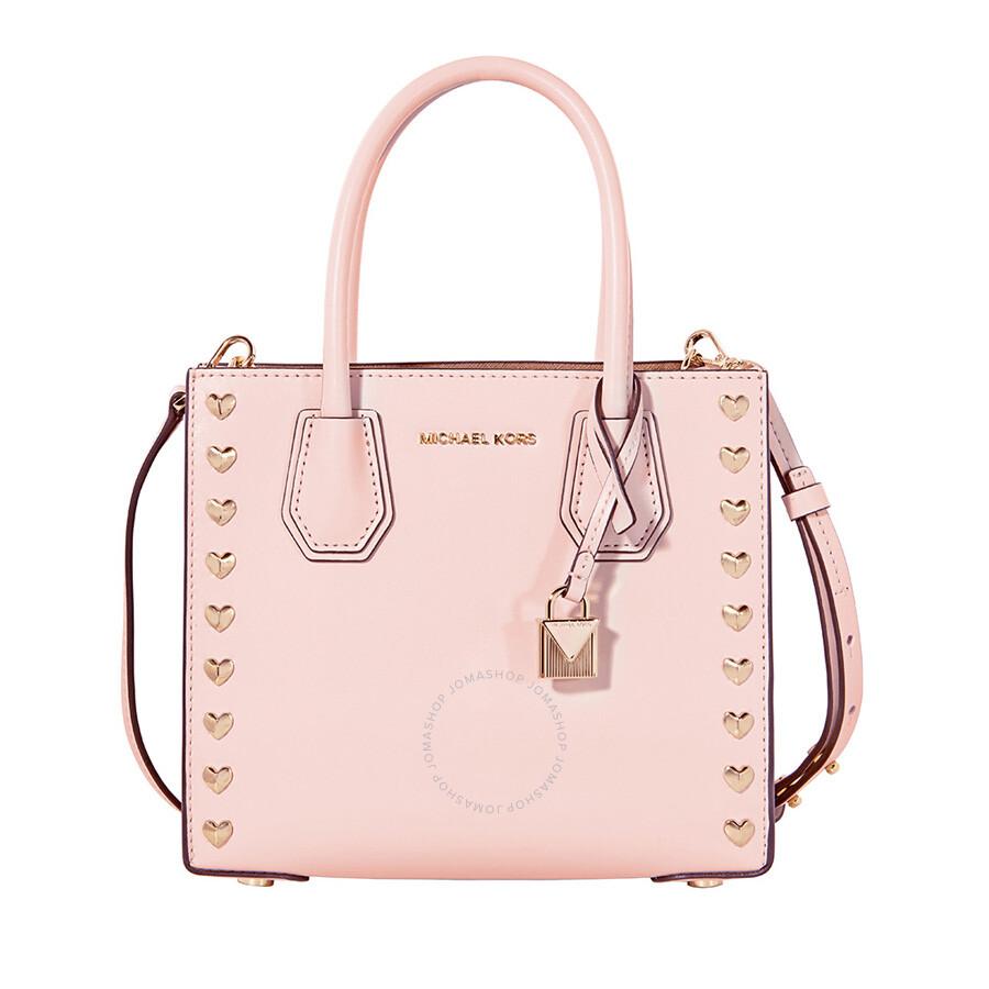 339b7d7106e2 Michael Kors Mercer Medium Heart Studded Messenger Bag - Soft Pink Item No.  30H7GM9M2U-187