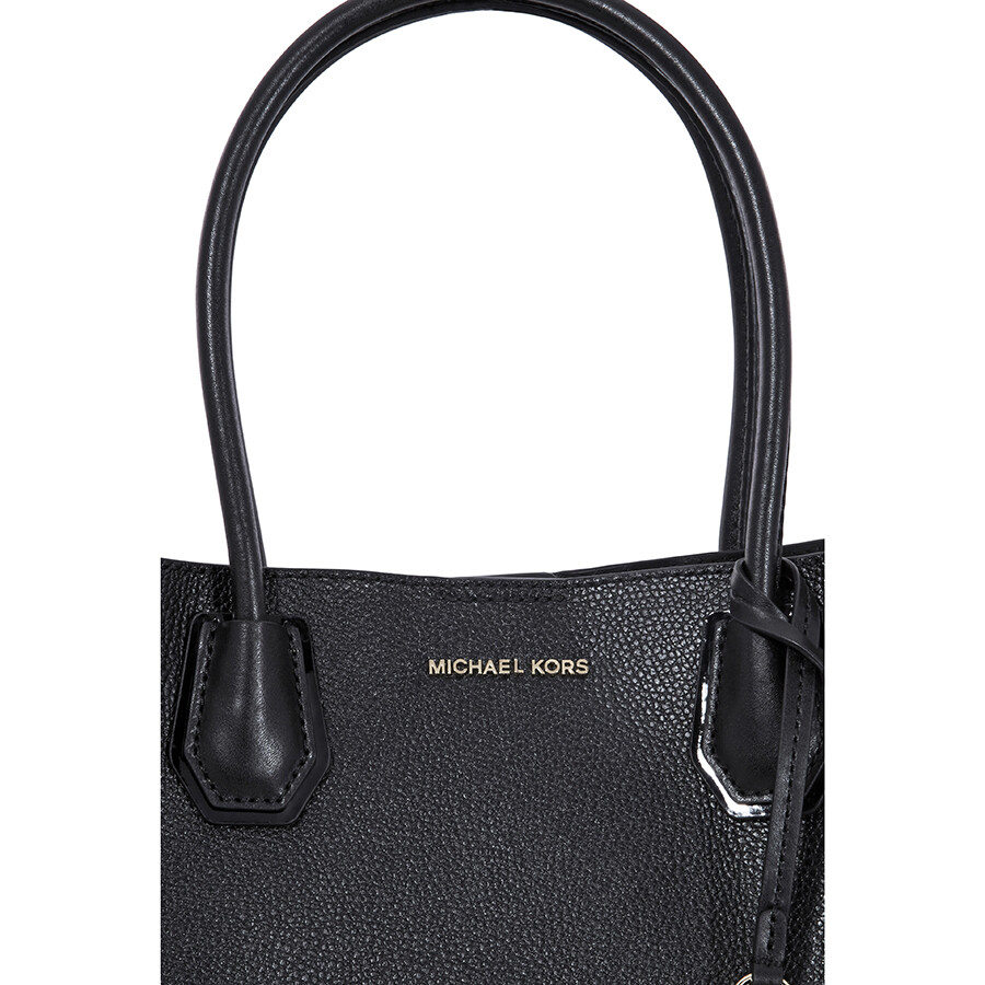 055905d094d1 Michael Kors Mercer Medium Leather Satchel - Black - Handbags - Jomashop