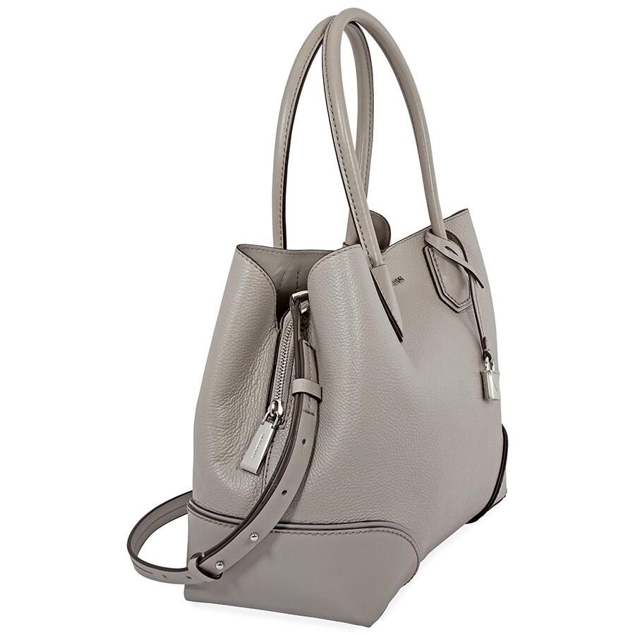 michael kors mercer medium leather satchel pearl grey. Black Bedroom Furniture Sets. Home Design Ideas