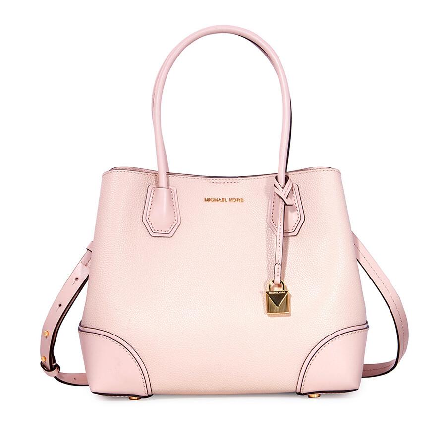 bd00dd25f29d Michael Kors Mercer Medium Leather Satchel - Soft Pink Item No. 30H7GZ5T6A- 187