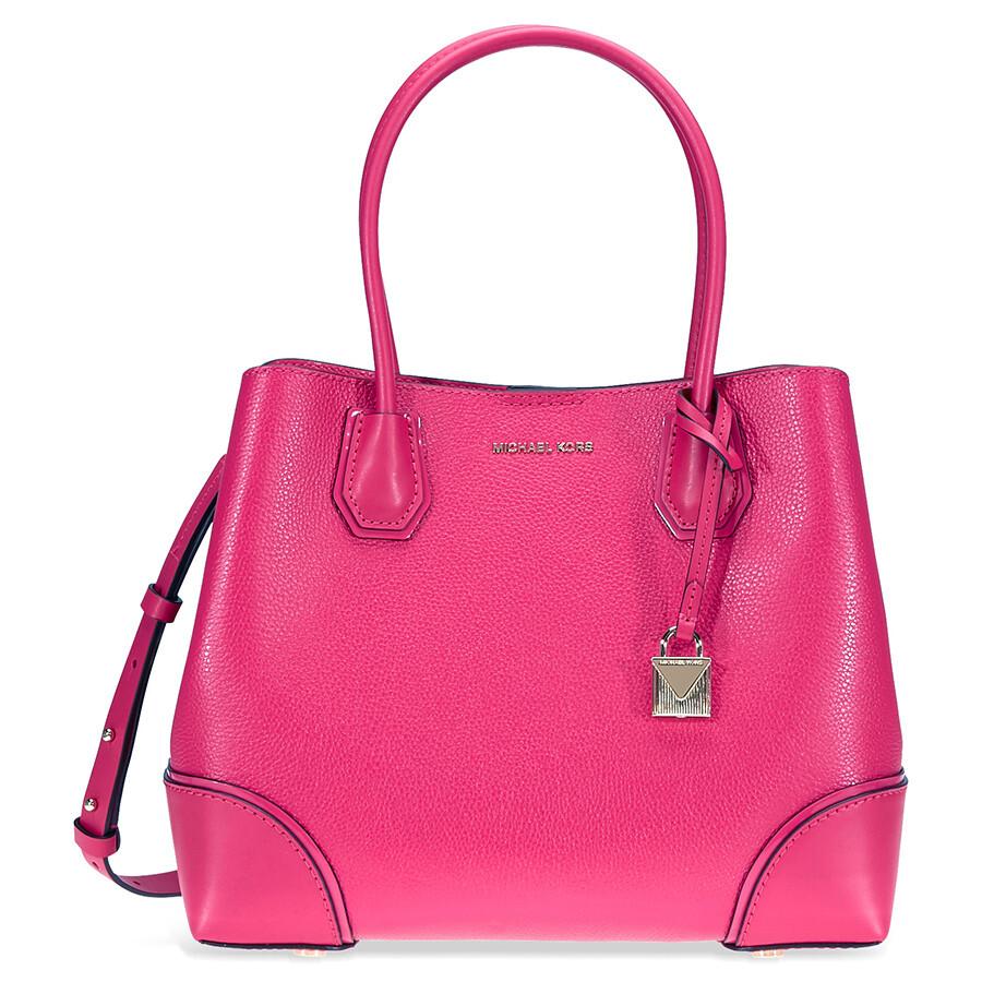 231297e57750 ... shop michael kors mercer medium leather satchel ultra pink 51356 c862e