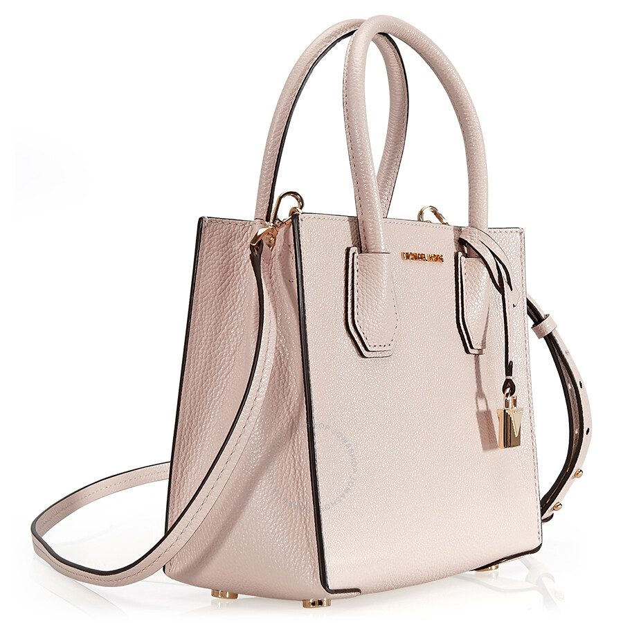 6c30b999da0e Michael Kors Mercer Medium Mercer Pebbled Leather Crossbody Bag- Soft Pink