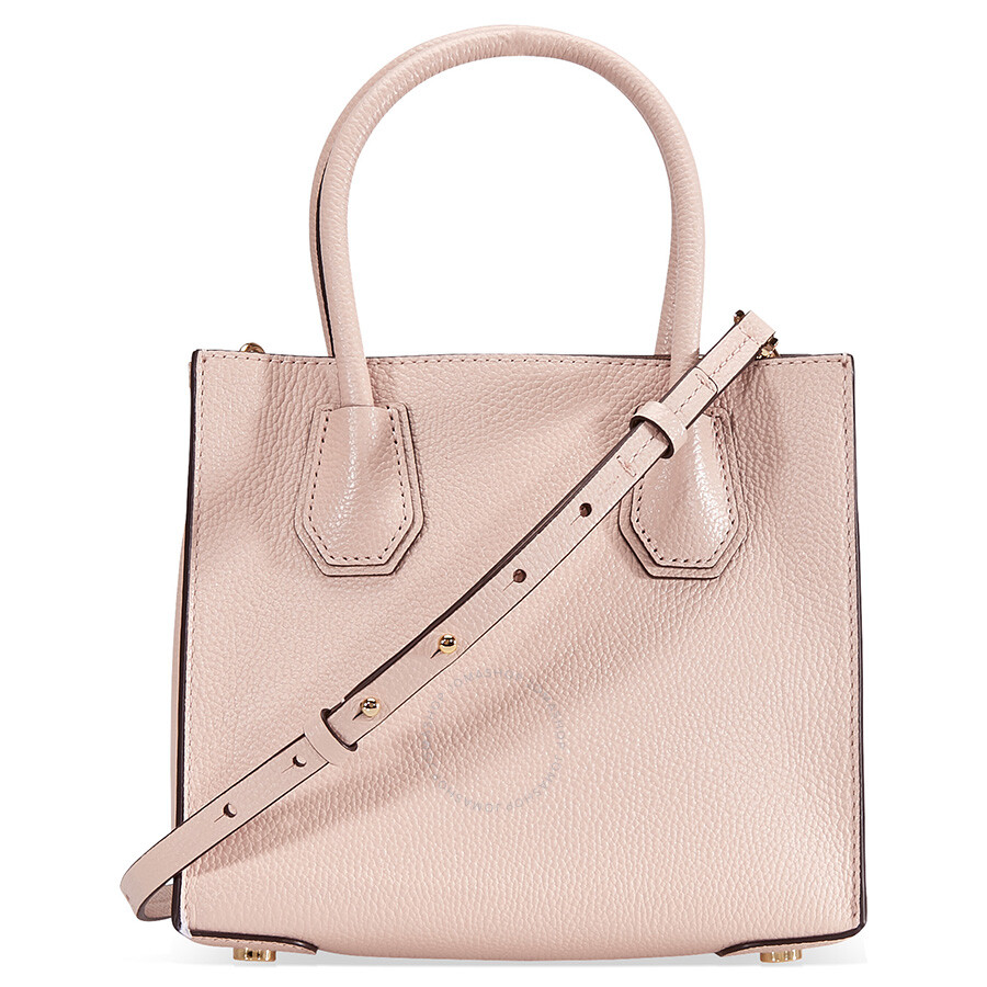 e6cbd1e9b79c Michael Kors Mercer Medium Mercer Pebbled Leather Crossbody Bag- Soft Pink