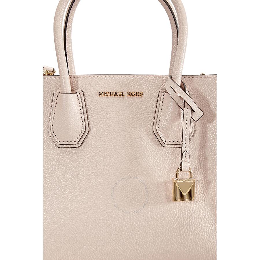 eece2a072390 Michael Kors Mercer Medium Mercer Pebbled Leather Crossbody Bag- Soft Pink
