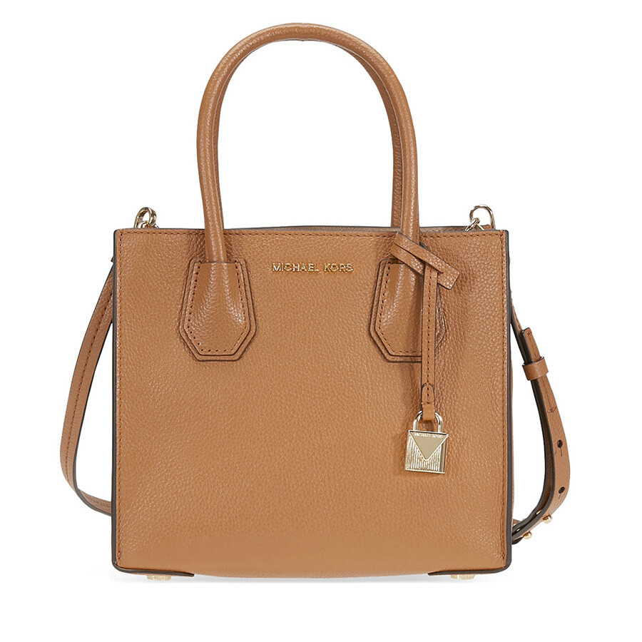 644139e375610d Michael Kors Mercer Medium Pebbled Leather Crossbody Bag- Luggage Item No.  30F6GM9M2L-532