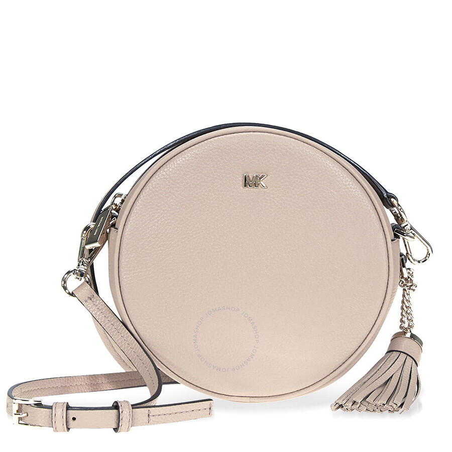 635a4101eeb908 Michael Kors Mercer Medium Pebbled Leather Crossbody- Truffle Item No.  32T8TF5N3L-208