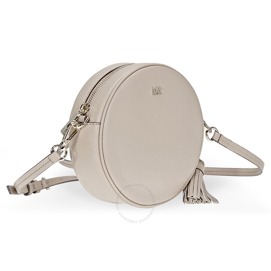 e03c5d1bb71b8f Michael Kors Mercer Medium Pebbled Leather Crossbody- Truffle ...