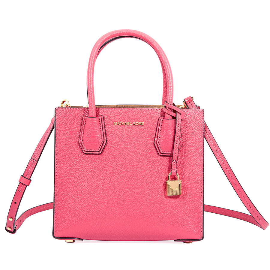 8a43a883899c Michael Kors Mercer Medium Pebbled Leather Crossbody Bag- Rose Pink Item  No. 30F6GM9M2L-653
