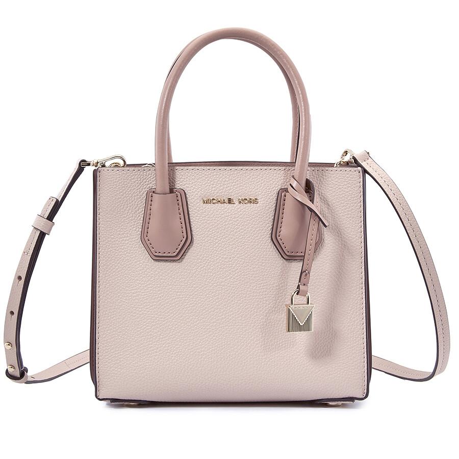 c268df04b25a Michael Kors Mercer Medium Pebbled Leather Crossbody Bag- Soft Pink Item No.  30T8TM9M2L-187