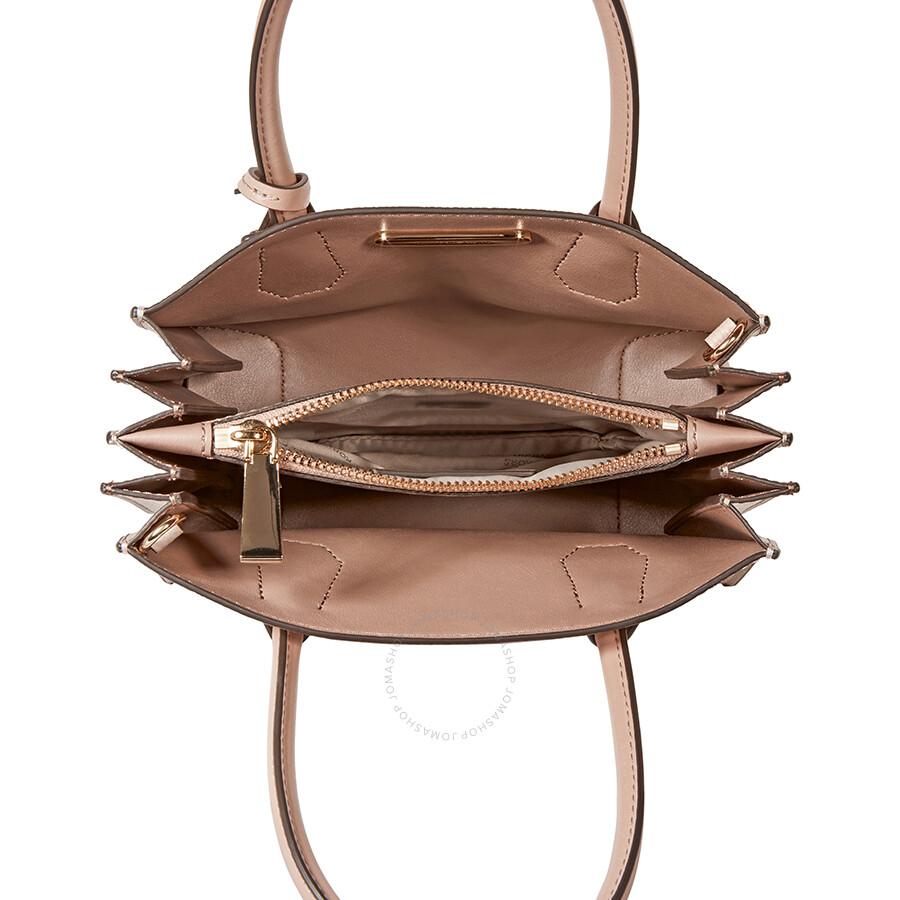 a47a703b37e3 Michael Kors Mercer Medium Pebbled Leather Crossbody Bag- Soft Pink ...