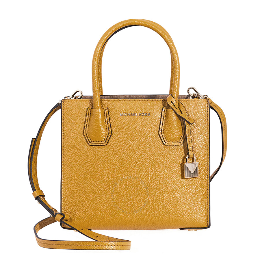 e5c9eb0aafac Michael Kors Mercer Pebbled Leather Crossbody Bag- Marigold - Mercer ...