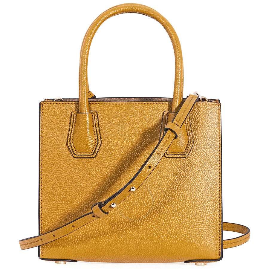Michael Kors Mercer Pebbled Leather Crossbody Bag- Marigold - Mercer ... a4fd2981cc917